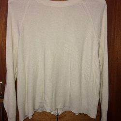 Camisola de malha, branca com feito traseiro foto 1